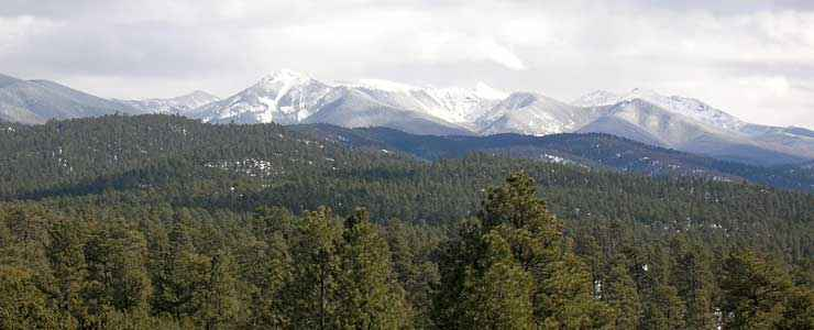 The Truchas Peaks in Santa Fe National Forest