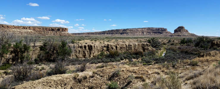A view of Fajada Butte at Chaco Culture National Historical Park