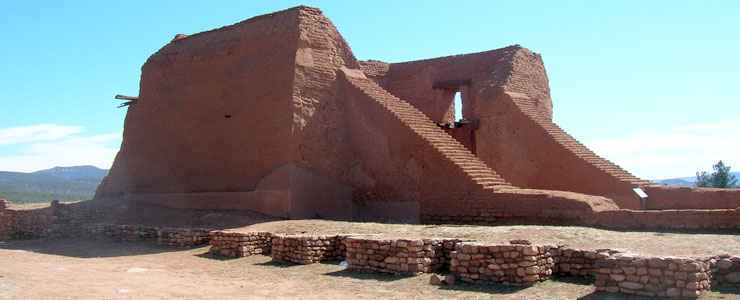 Ruins of the second Pecos Mission Church at Pecos National Historical Park