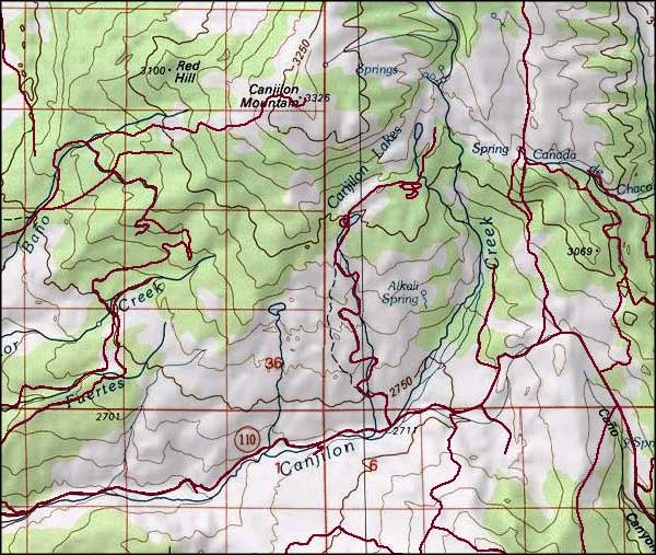 Canjilon lakes and trout lakes trails the sights and for Trout fishing new mexico map