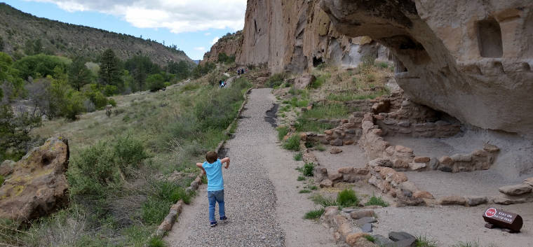 The Long House at Bandelier National Monument