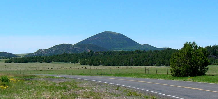 Capulin Volcano, from a few miles to the north