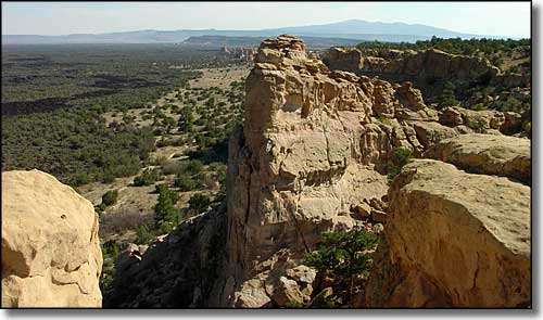 View from the Sandstone Bluffs Overlook at El Malpais National Monument