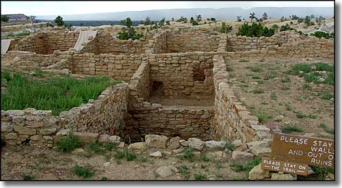The ruins of Atsinna Pueblo at El Morro National Monument