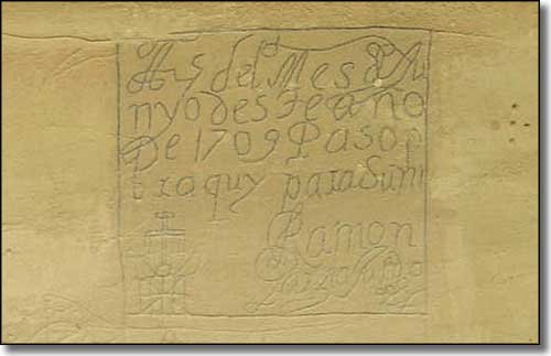 A historic Spanish inscription at El Morro National Monument