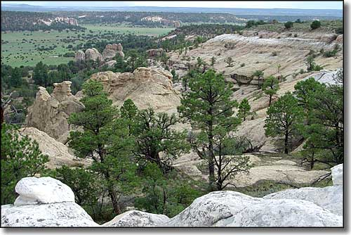 The view from the top of El Morro National Monument