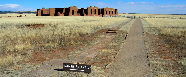 Santa Fe Trail wagon ruts at Fort Union National Monument