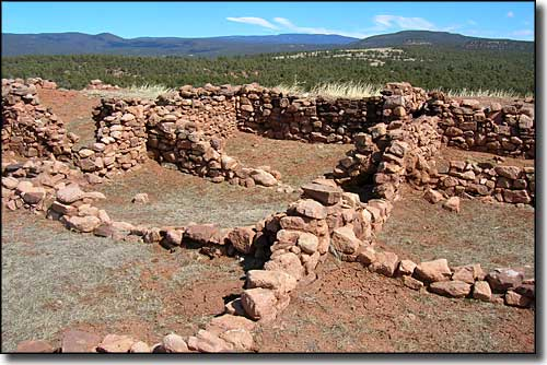 Anasazi ruins from before the Spanish arrival