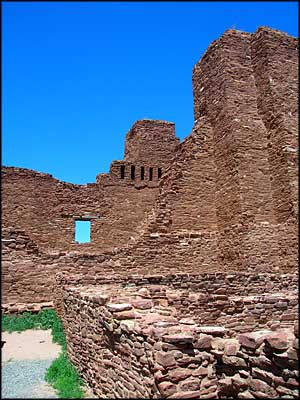 Ruins of the mission church at Quarai, Salinas Pueblo Missions National Monument