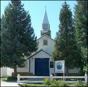 One of the churches on Main Street in Chama
