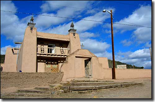 San Gregorio Mission in Las Trampas, along the High Road to Taos Scenic Byway