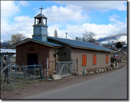 An old church (now artist studio) in Truchas