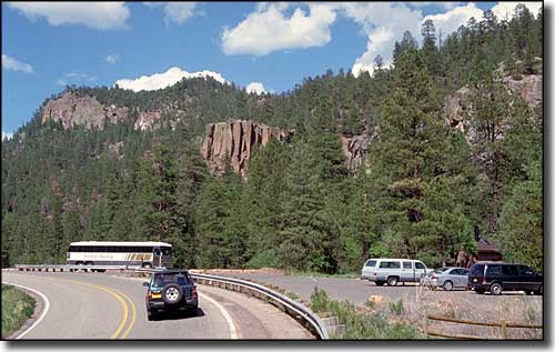 The Battleship Rock Wayside along the Jemez Mountain Trail Scenic Byway