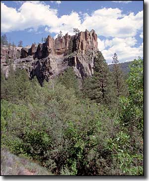 Battleship Rock along the Jemez Mountain Trail
