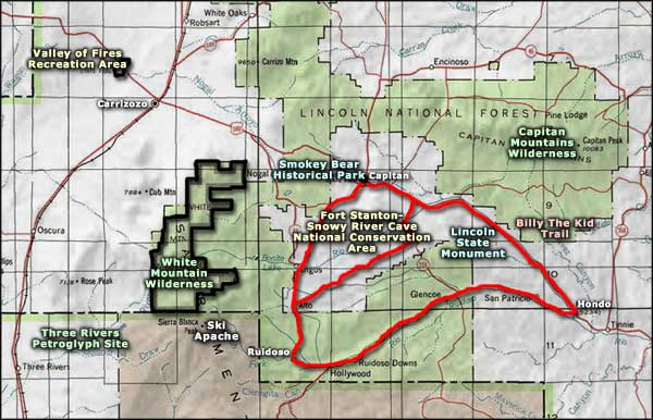 Ruidoso area map