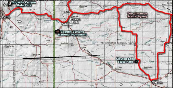 Dry Cimarron area map