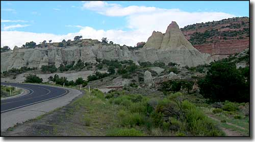 Typical sandstone formations along Historic Route 66 in western New Mexico