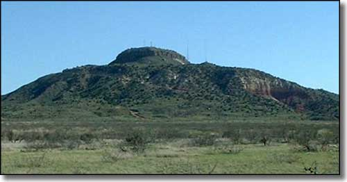 Tucumcari Mountain, on the eastern side of New Mexico along Historic Route 66