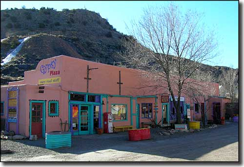 The Madrid Shopping Mall along the Turquoise Trail Scenic Byway