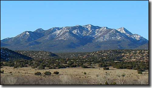 The Ortiz Mountains from the Turquoise Trail