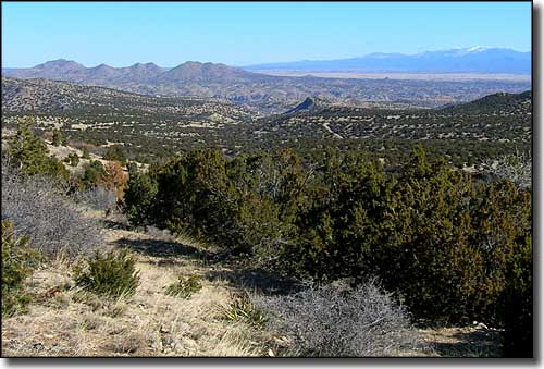 Turquoise Trail Scenic Byway between Los Cerrillos and Madrid