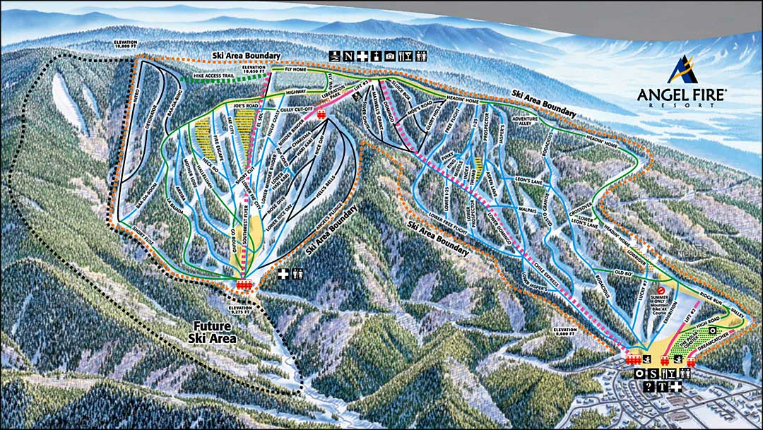 angel fire ski resort new mexico ski and snowboard areas