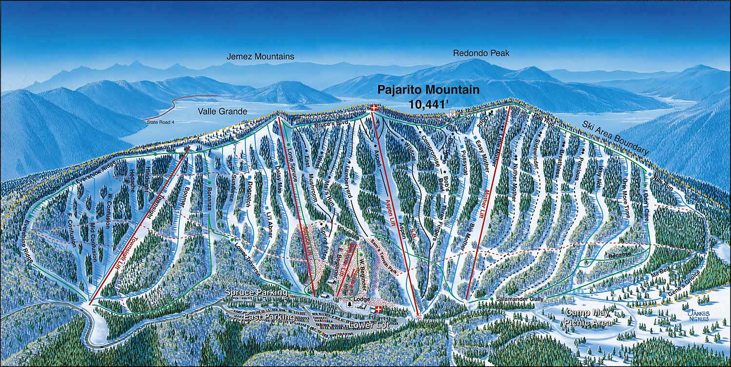 pajarito mountain ski area | the sights and sites of america