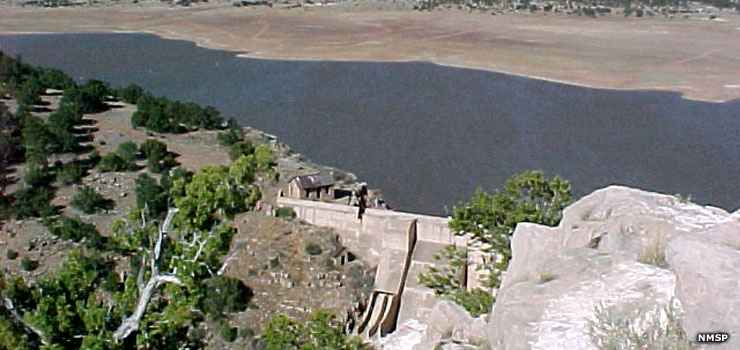 The dam that makes Bluewater Lake State Park possible