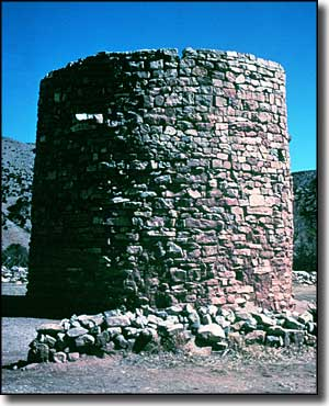 The Torreon: a stone tower that early settlers in Lincoln hid in during Indian attacks