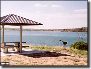 Picnic shelter at Ute Lake State Park