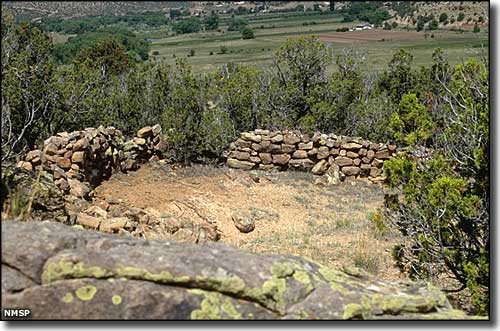 Ruins of an early Spanish settlement in the Villanueva Valley