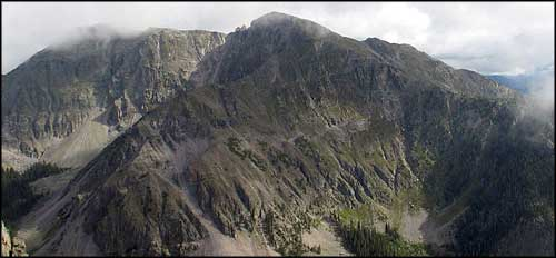 The Truchas Peaks rise above Pecos Wilderness