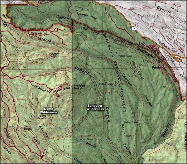 Dome Wilderness map