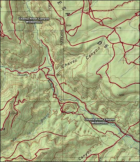 Chama River Canyon Wilderness map
