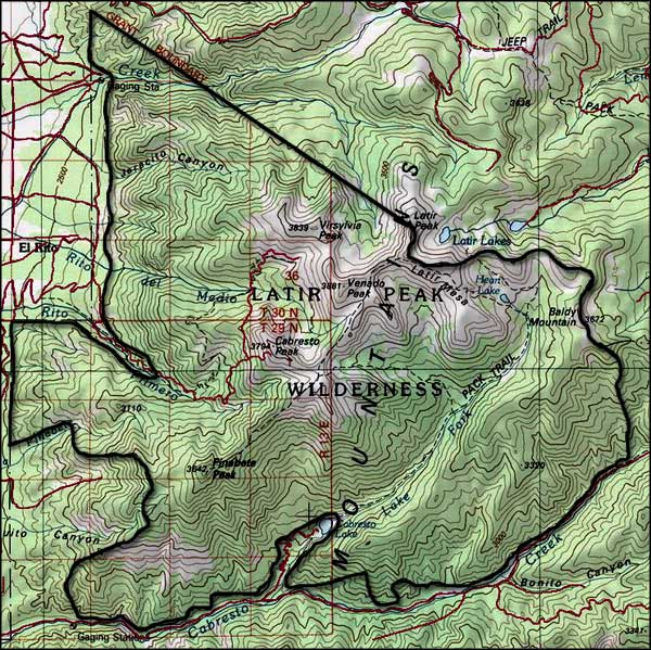 Latir Peak Wilderness map