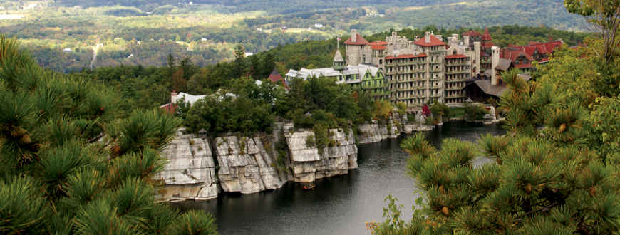 A major resortt hotel on the other side of Lake Pitchpine in upstate New York