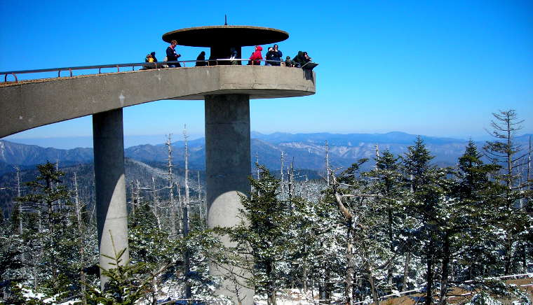 The tower on top of Clingman's Dome
