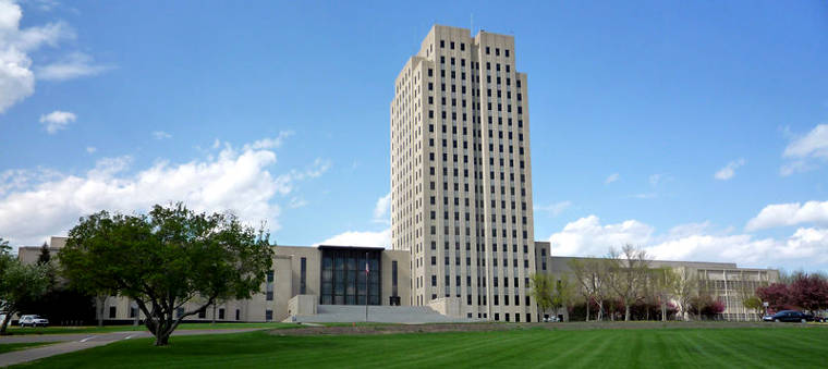 North Dakota State Capitol building in Bismarck