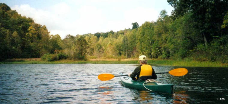Kayaking on Wayne National Forest