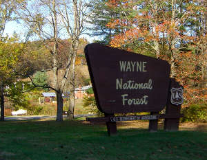 Sign marking Wayne National Forest office