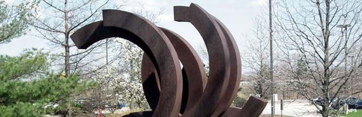 The sculpture at David Berger National Memorial