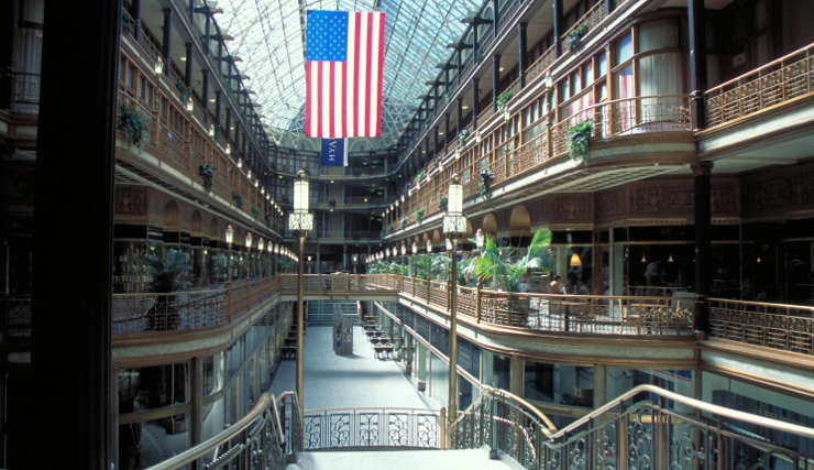 Inside the 1890 Arcade Building in Cleveland
