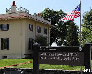 Sign marking the William Howard Taft National Historic Site
