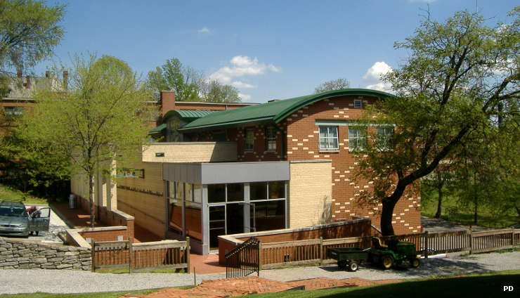 The visitor center at the William Howard Taft National Historic Site