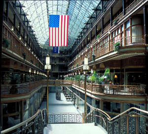 View inside the Arcade Building built for the 1890 Cleveland World's Fair