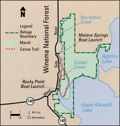 Map of Upper Klamath National Wildlife Refuge