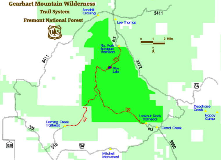 Gearhart Mountain Wilderness  Oregon National Wilderness