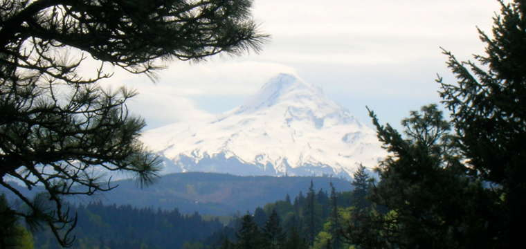 Mount Hood to the south