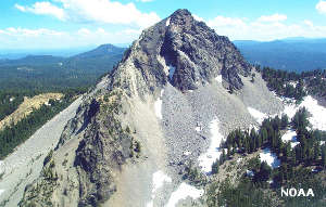 Mount Thielsen from the air