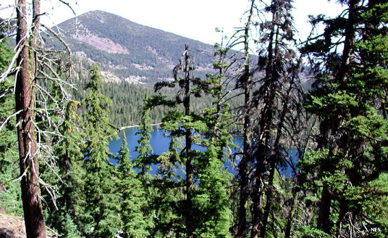 A typical view in Mountain Lakes Wilderness